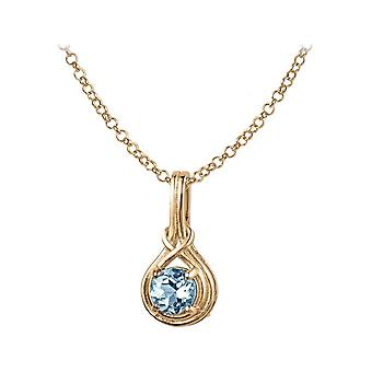Jacques Lemans - Chain sterling gold plated with Sky Blue Topaz - SE-C107I