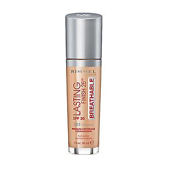 Rimmel London Lasting Finish Foundation Medium Coverage 25Hr SPF20 30ml True Beige #203