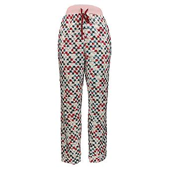 Cuddl Duds Women's Pajama Pants Grid Fleece Jogger Pink A369287