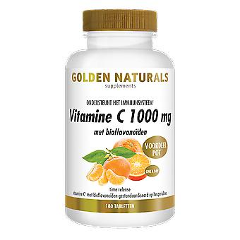 Golden Naturals Vitamin C 1000 mg with bioflavonoids (180 vegan tablets)
