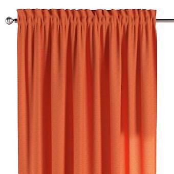 Vorhang mit Tunnel und Köpfchen, orange, 130 × 260 cm, Jupiter, 127-35