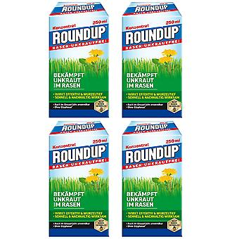 Sparset: 4 x ROUNDUP® Lawn Weed-Free, 250 ml