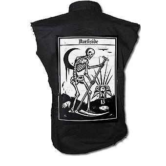 Darkside - death tarot  - sleeveless workers shirt - black
