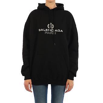 Balenciaga 578135tgv701000 Women's Black Cotton Sweatshirt