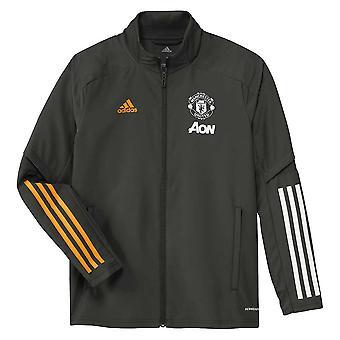 2020-2021 Man Utd Adidas Presentation Jacket (Green) - Kids