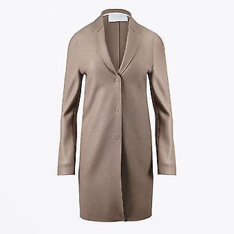 Harris Wharf - Manteau cocoon en laine pressée - Taupe