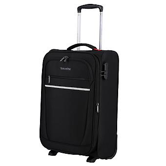 travelite Cabin Hand Luggage Trolley S, 2 hjul, 55 cm, 36 L, Sort