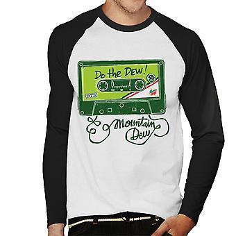 Mountain Dew Mix Tape Men's Baseball Long Sleeved T-Shirt