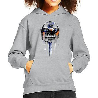 Star Wars R2D2 Paint Art Kid's Hooded Sweatshirt