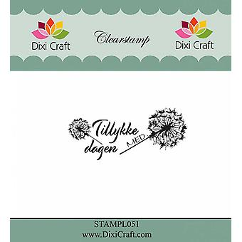 Dixi Craft Danish Text 6 Clear Stamps
