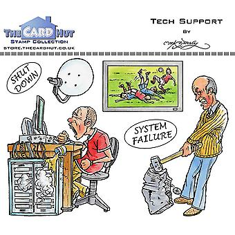 The Card Hut Tech Support Clear Stamps