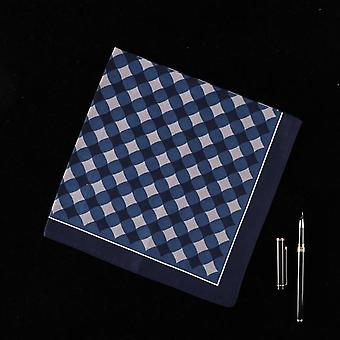 Novel Striped Lattice Men's Handkerchief - Strong Water Absorption Napkin for Wedding Gift