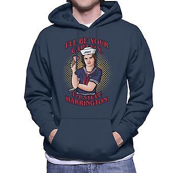 Votre capitaine Steve Harrington Stranger Things Men-apos;s Sweatshirt à capuchon