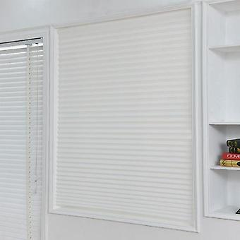 Self Adhesive Pleated Blinds Half Blackout Bathroom Windows Curtains Shades -