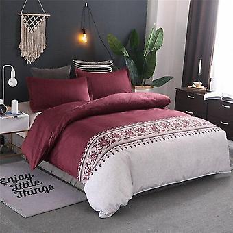 Einfache Luxus Jacquard Floral gedruckt Bett Bettwäsche Bett Deckenbezug Set