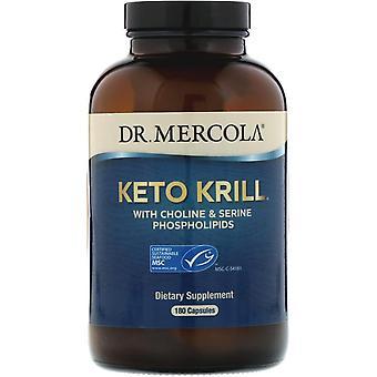 Dr. Mercola, Keto Krill with Choline & Serine Phospholipids, 180 Capsules