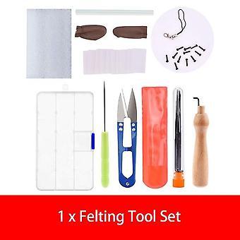 Color DIY Handle Wool Felting Tools - Handmade Felt Needle Set