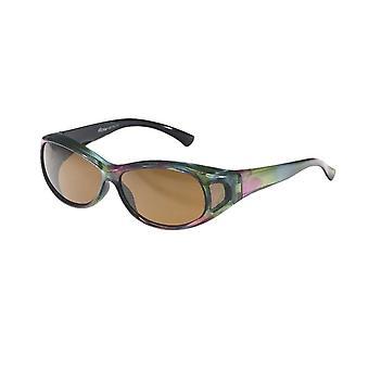 Sunglasses Women's Green with Brown Lens Vz0007po