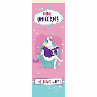 Otter House 2021 Slim Calendar-Unicorns الفريدة