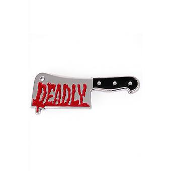 Sourpuss Clothing Deadly Cleaver Enamel Pin