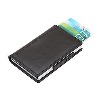 RFID-kortholder PU læder sort