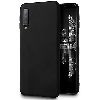 Matte Soft Shell pour Samsung Galaxy A70 TPU Mobile Case Mobile Cover Solid Color Black