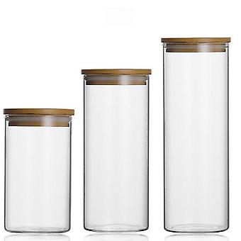 Large Capacity, Sealed Glass Jar For Food Storage