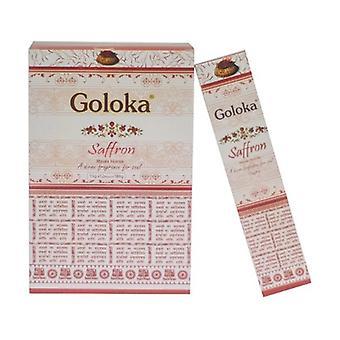Goloka Saffron Incense 15 g