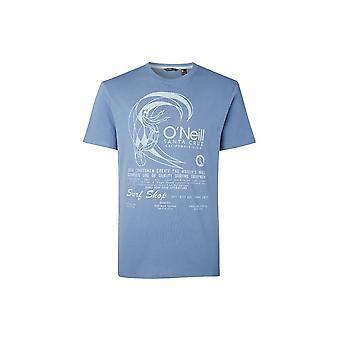 O'Neill Men's Originale Bio-Baumwolle T-Shirt - Print Walzer blau