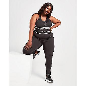 Nieuwe Pink Soda Sport Women's Stitch Plus Size Shine Panty's Zwart