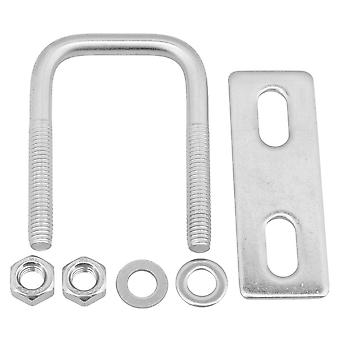 Sliver Square U Shaped Bolt Stainless Steel M6x30x55 for Fixed Axle Part