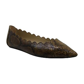 Adrienne Vittadini Mujeres's Zapatos Fox Snakeskin Pointed Toe Loafers