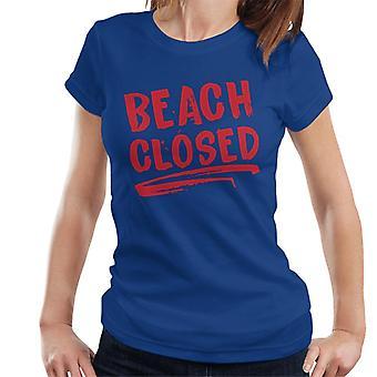 Jaws Beach Stengt Kvinner's T-skjorte
