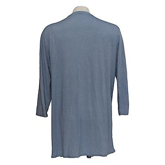 Rhonda Cisaillement Femmes's Pull Blue Cardigan 3/4 Sleeve Polyester 699-669