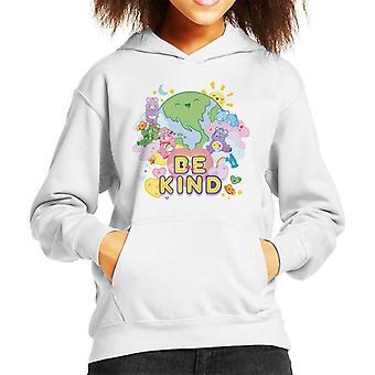 Care Bears Unlock The Magic Be Kind On Earth Kid's Hooded Sweatshirt