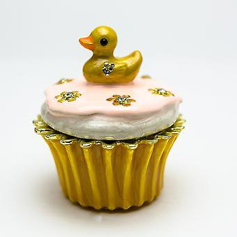 Eend op Cupcake Trinket Doos