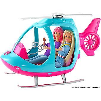 باربي fwy29 طائرة هليكوبتر، الوردي والأزرق، مع الدوار الغزل، متعددة الألوان