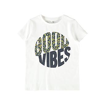 Namn-it Girls Tshirt Tanvi Bright White / Dark Sapphire