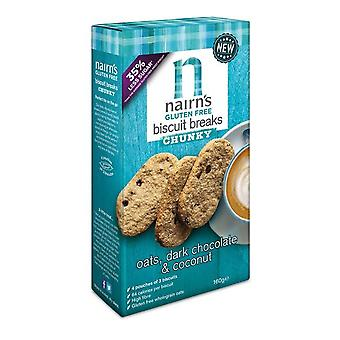 Nairns Dark Chocolate Chip and Coconut biscuits 160g x6