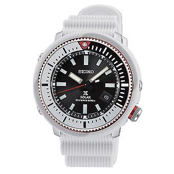 Seiko SNE545P1 Prospex Street Series White Silicone Solar Diver's Men's Watch
