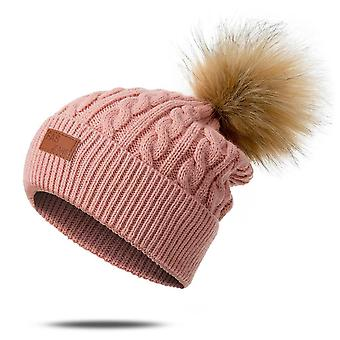Winter Pompoms, Knitted Warm Hats