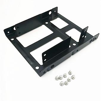 "2.5"" Ssd / Hard Drive To 3.5"" Drive Bay Adapter Mounting Bracket Hdd"