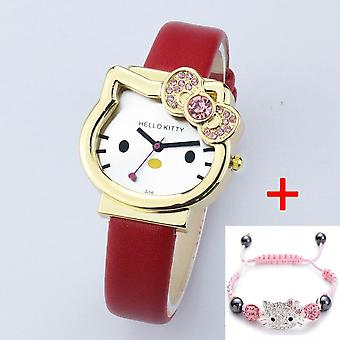 High Quality Cartoon Cute Mesh Stainless Steel Band Quartz Watch Kids Bracelet