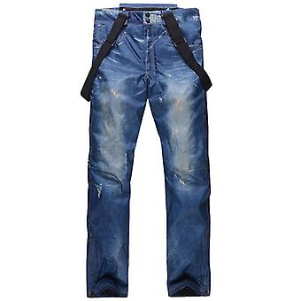 Winter Denim Ski Pants Legging- Veneer Double Board Snowboard Pants