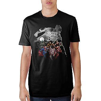 Justice league batman outline t-shirt