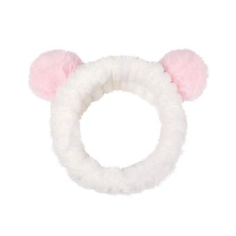 3pcs Cute Style Soft  Headband Hairlace for Shower Makeup Washing Face (Pink)