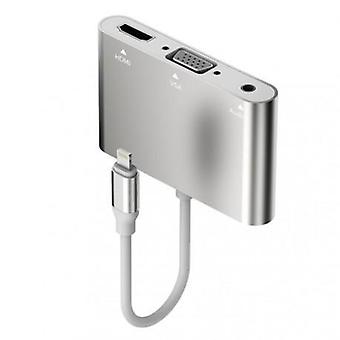 Lightning adapter till HDMI/VGA Video och Audio 3.5 mm
