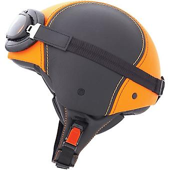 Caberg Jet Century Helm Matt Orange Black DD-Ring bevestiging ACU Goedgekeurd XS