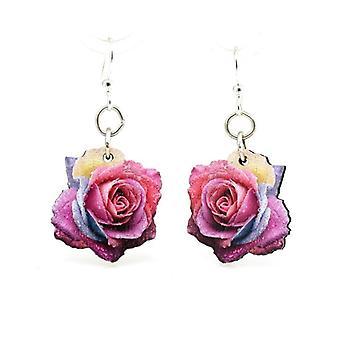 Multi-color Rose Blossom Earrings #161