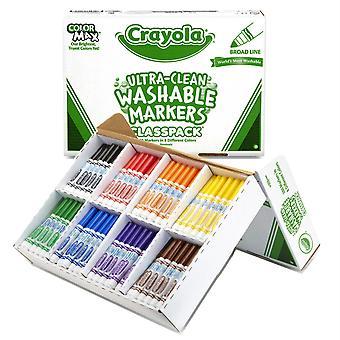 Marcadores Lavables Ultra-Clean Classpack, Línea Ancha, 8 Colores, Pack de 200